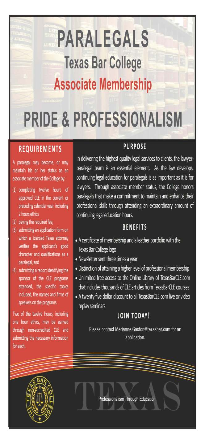 Paralegal flyer SB College